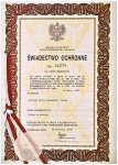 Certificate of protection no. 16275